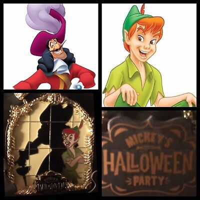 Mickey's Halloween Party 2018 Mysterious Shadows Limited Edition Pin-  Pan/ - Peter Pan Shadow Halloween