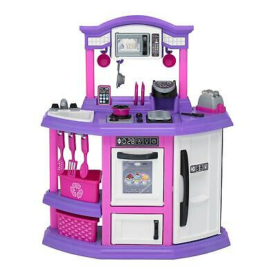 "American Plastic Toys Baker's Kitchen Playset - White, Pink, Purple 8'2"" x 10'"