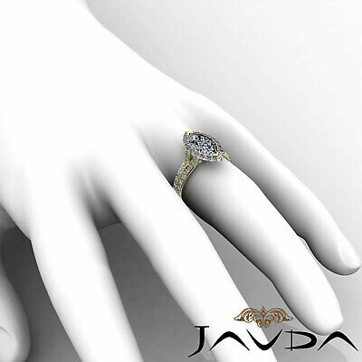 Halo Pave Set Marquise Cut Diamond Engagement Anniversary Ring GIA I SI1 2.36Ct 11