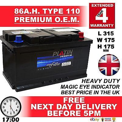 110 New Genuine OEM Heavy Duty Car Battery - Type 110 85ah 4 YEAR GUARANTEE 24HR