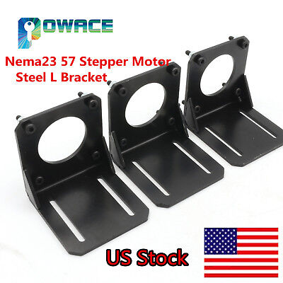 Usa3pcs Nema23 Stepper Motor Steel L Mount Bracket Cnc Holder Support W Screw
