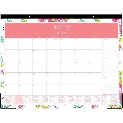 Blue Sky Desk Pad Calendar Monthly 12 Mths July-june 22x17 Multi 107938