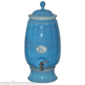 New Hand Made Southern Cross Pottery Ceramic Water Filter Purifier Starry Blue