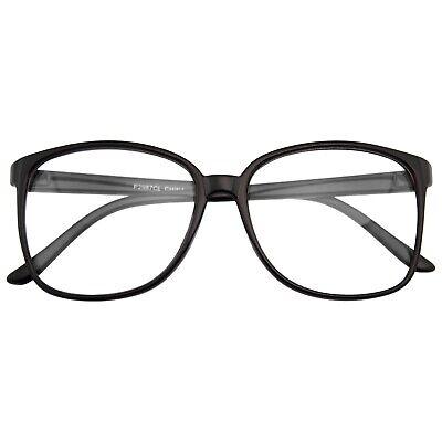 Groß Übergröße Geek Mode Brille Klar Gläser Dünn Rahmen Nerd Brille