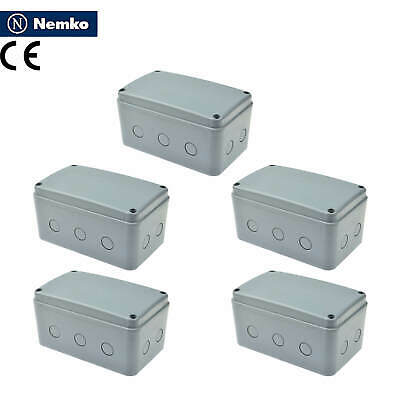 5 Pk Ip66 Waterproof Weather-proof Electrical Junction Box Cable Wire Case Big