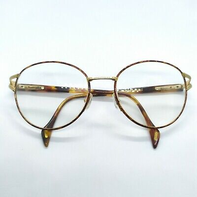 Vintage Gucci Eyeglasses Frame Italy White Gold Eye Wear 135 Clear Mens-womens