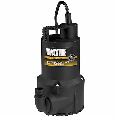 New Wayne Rup160 Submersible Utility Water Pump  1 6 Hp  3 000 Gph