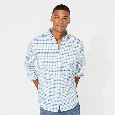 Nautica Mens Classic Fit Plaid Oxford Shirt