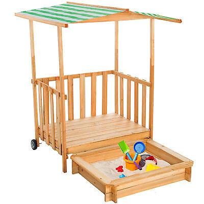 Sabbiera con Tetto Veranda da gioco per bambini Terrazza Gioco protezione solare