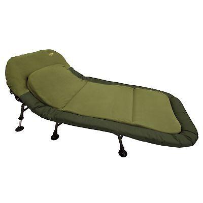 Luxus Liege Comfort++ 98cm breit 6-Bein Karpfenliege Angler Angelliege Feldbett