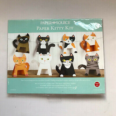 Paper Source Cat Garland Kit Craft Kitty 12 Kittens Party Decoration Halloween