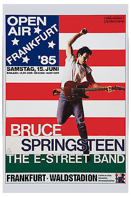 1970's Classic Rock:  Bruce Springsteen Frankfurt Germany  Poster 1985 12x18