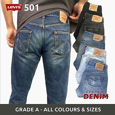 Vintage Levis 501 Grade A Denim Mens Jeans W29 W30 W32 W34 W36 W38 W40