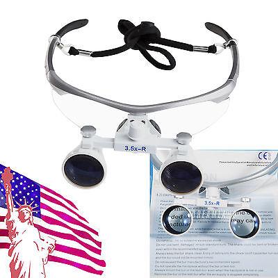 Dental Surgical Medical Binocular Loupes 3.5x 420mm Optical Glass From Usa Wun