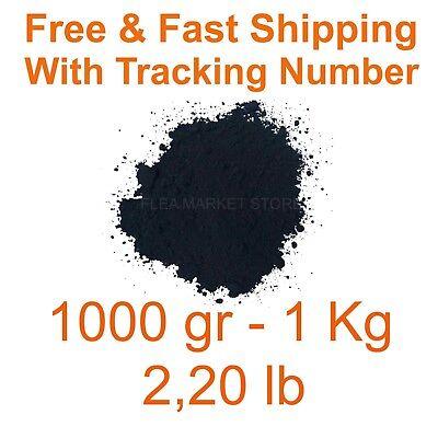 Iron Oxide Black Pigment Dye 1000gr 1kg 220 Lb Free Fast Shipping Fe3o4 Dyes