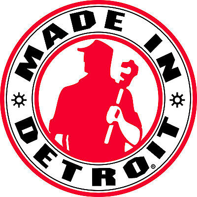MADE IN DETROIT 6X6 GEAR MICHIGAN VINYL CAR WINDOW DECAL STICKER IN COLOR