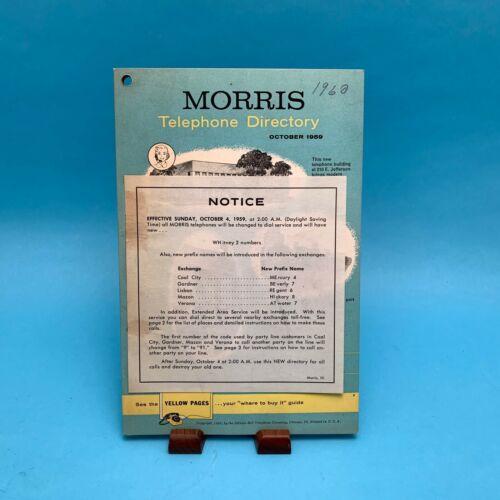1959 Morris Illinois Telephone Directory Phone Book October 1959