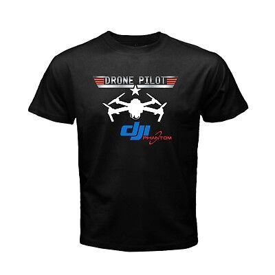 DJI PHANTOM 4 Mavic Pro Drone Pilot Top Gun logo Men