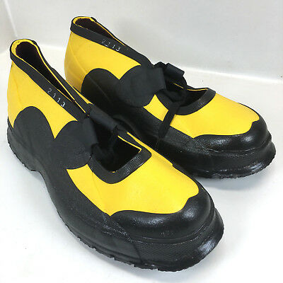 Servus Super Dielectric Rubber Shoes Electric Lineman Slip-on Overshoe Size 8