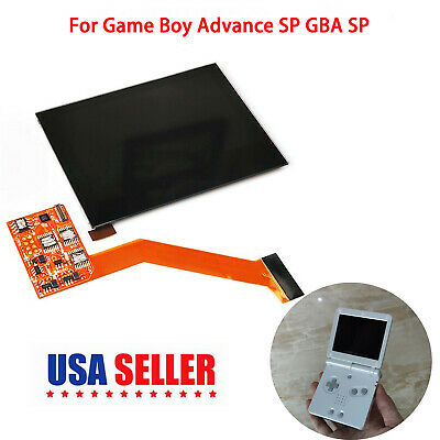 Highlight Screen IPS LCD Screen for Game Boy Advance SP GBA SP Game Consoles US