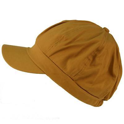 Apple Cotton Cap (Summer 100% Cotton Plain Blank 8 Panel Newsboy Gatsby Apple Cabbie Cap Hat Khaki)
