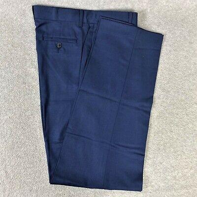Calvin Klein Boys Dress Pants Blue Flat Front School Uniform Size 10 24 x 24