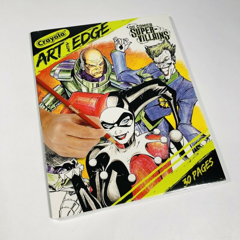 Crayola Art With Edge Coloring 30 Pages DC Comics Super-Villains-NEW