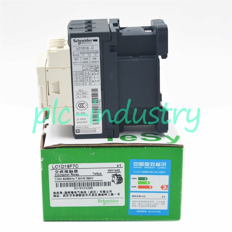 New In Box Schneider Telemecanique Contactor LC1D18F7C 110VAC One year warranty