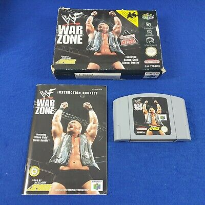 N64 WWF WAR ZONE *x Boxed & Complete Wrestling PAL Version