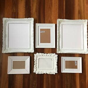 6 white picture frames set North Ryde Ryde Area Preview