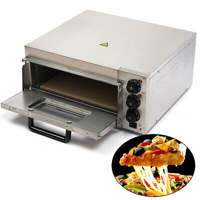 Electric 2kw Pizza Oven Single Deck Commercial Stainless Steel Pizza Toaster New