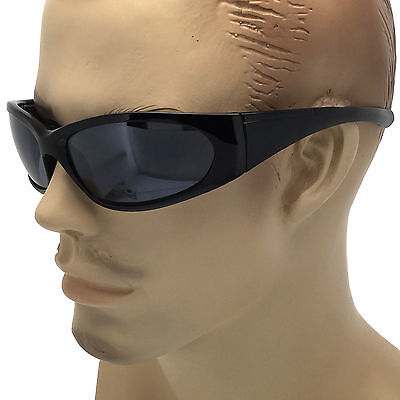 CAN'T SEE EYES Mens Sports Wrap Around Sunglasses Super Dark Reflective (Sunglasses Can T See Eyes)