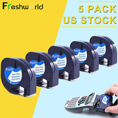 5pk 91331 Compatible With Dymo Letratag Refill Plastic Label Tape 12mm Lt-100h