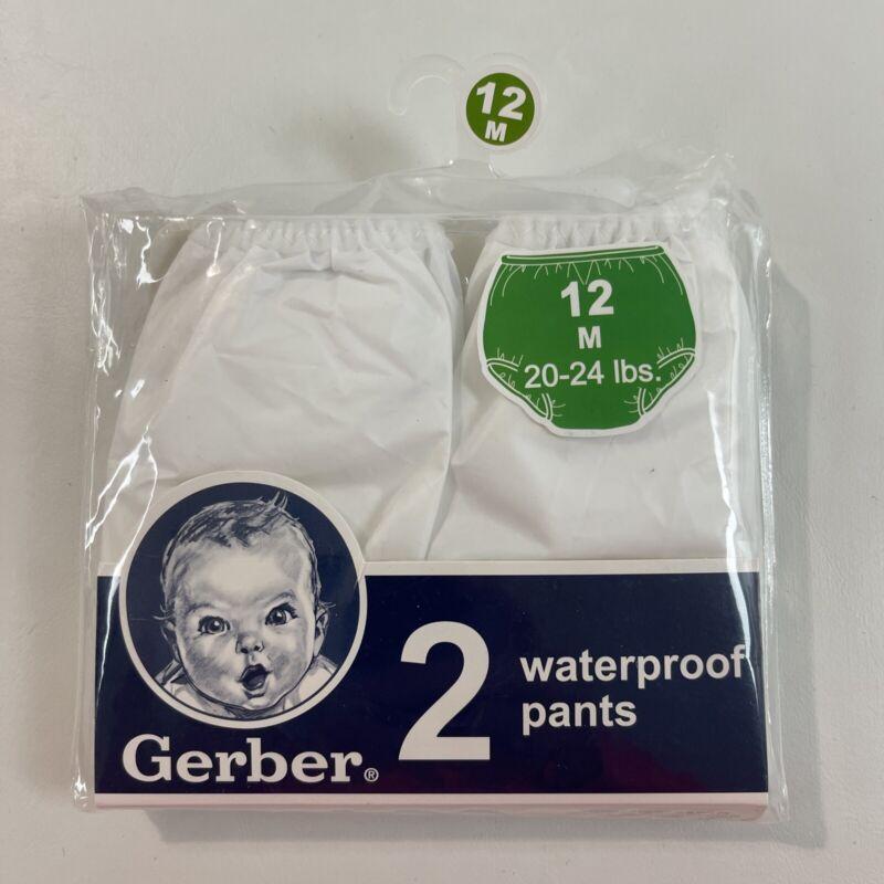 Gerber Waterproof Pants 2 Cloth Diaper Covers Size 12 Mo 20-24 Lbs
