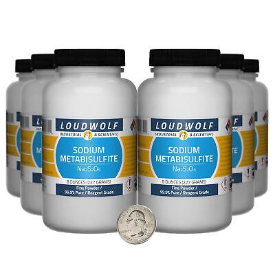 Sodium Metabisulfite 3 Lbs 6 Bottles 99.9 Reagent Grade Fine Powder