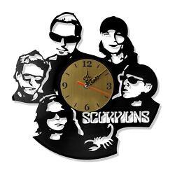 NEW  Vinyl Record Wall Clock Scorpions, modern decorative art ~ 12