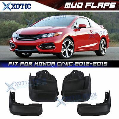 For Honda Civic 2012-15 9th GEN 4DR Sedan Mud Flaps Splash Guard Set Front+Rear