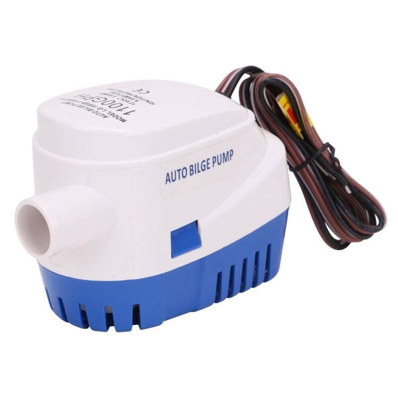 1100GPH 12V Bilgenpumpe Pumpe Automatische Mit Schalter Bilgepumpe Lenzpumpe