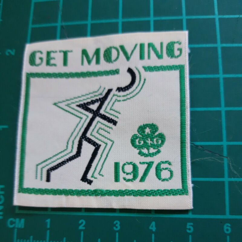 Get Moving 1976 Girl Guide Badge