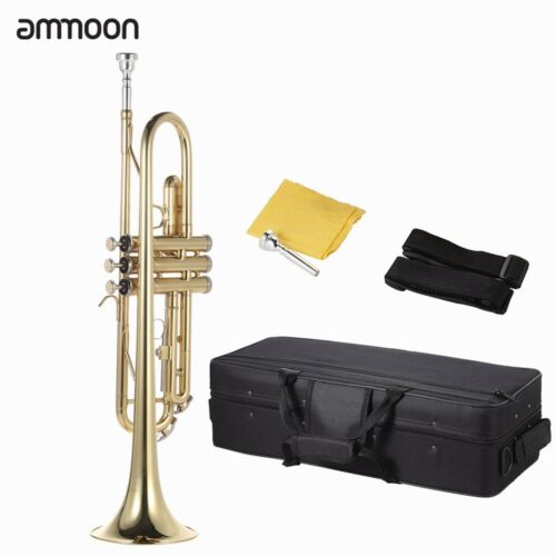 New Golden Trumpet Bb Marching Concert School Band Trumpets Bb B Flat Brass