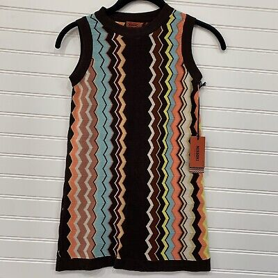 Missoni for Target Girls Striped Sleeveless Sweater Dress Size Medium NWT