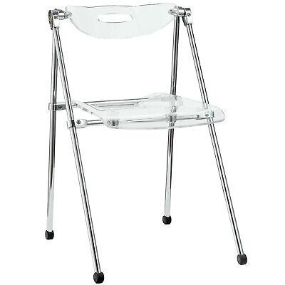 Telescope Acrylic Folding Chair-Clear Acrylic
