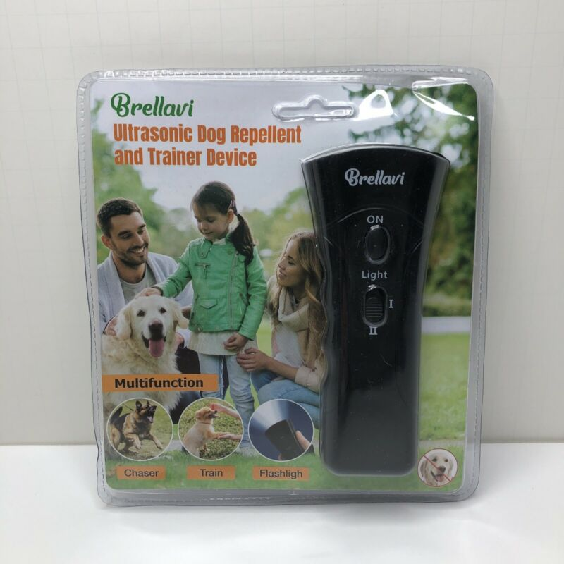 Brellavi Dog Repellent and Trainer Device Multifunction with LED Flashlight- NEW