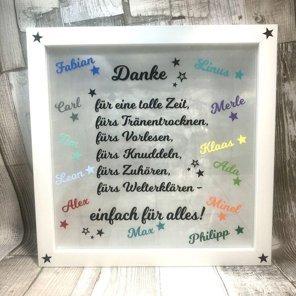 Danke Abschied Kindergarten Grundschule Schule personalisiert in ...