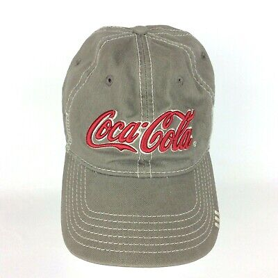 Coca-Cola Coke Anoma Cap Hat Olive Green Hook & Loop Adjustment Baseball Cap