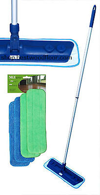 Microfiber Mop Kit with 4 Pads Swivel Mop Base Best Value! Free