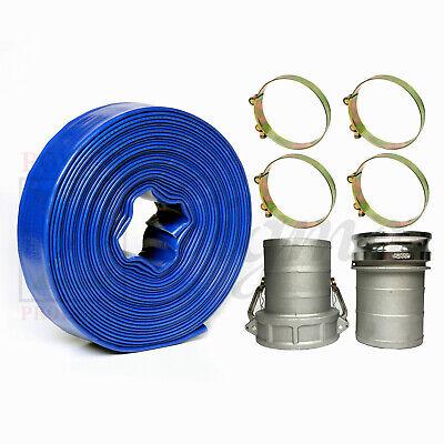 Sigma 6 In X 100 Feet Garden Pvc Lay Flat Discharge Water Pump Hose Camlocks