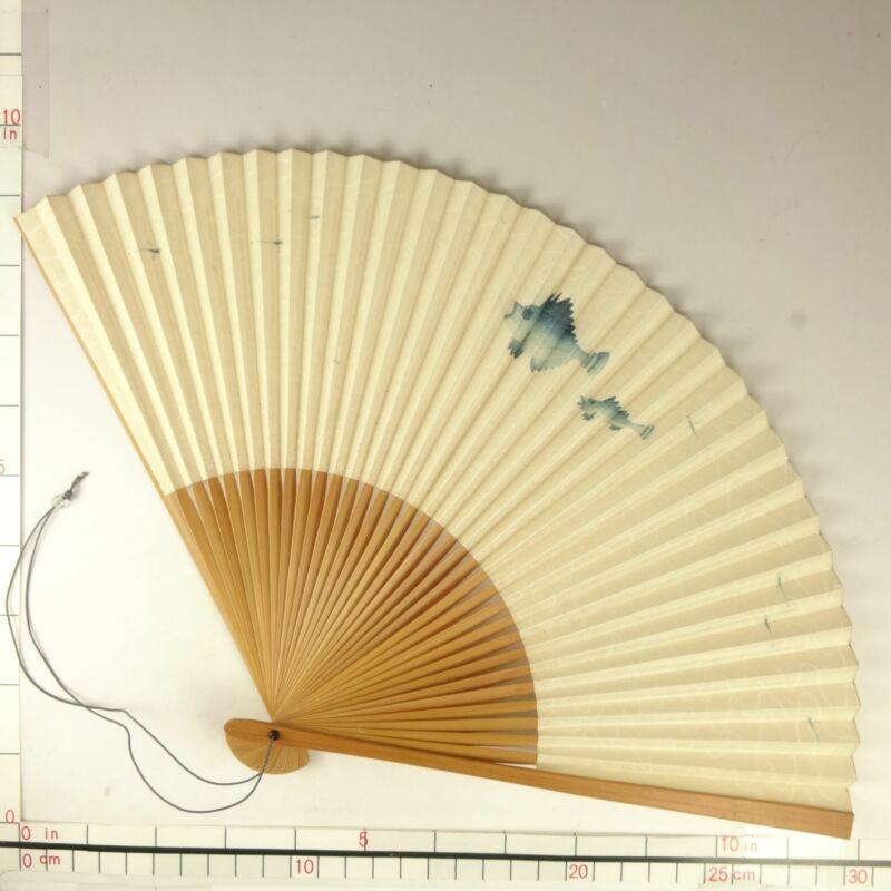 YU180 SENSU Japanese Fan Art painting Nihonga Picture Traditional crafts Vintage