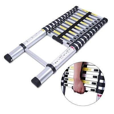 10.5ft Aluminum Multi-purpose Telescopic Ladder Extension Loft Steps Tall En131
