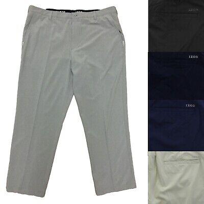 IZOD Mens Performance SwingFlex Stretch Straight Fit Flat Front Golf Pants - Izod Flat Front